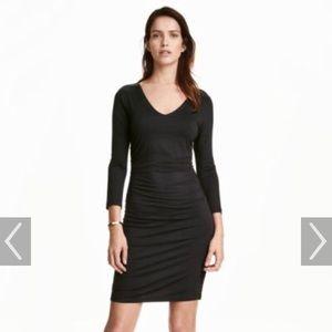 H&M Long sleeve black dress